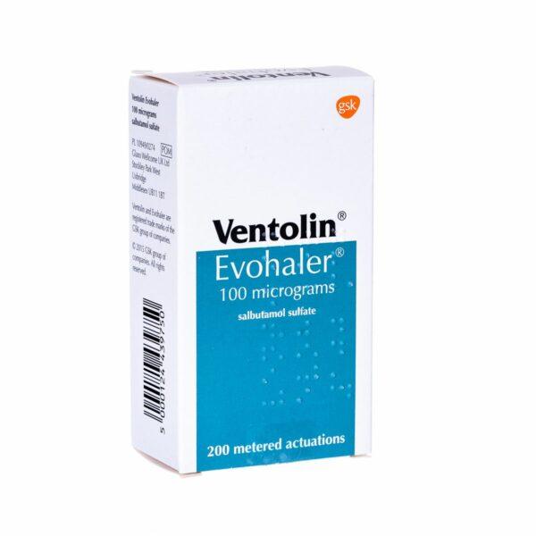 Buy Ventolin Evohaler (Salbutamol) Inhaler Online Asthma Treatment Side Effects Dosage Inhaler