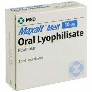 maxalt melt rizatriptan dissolving tablet medicine