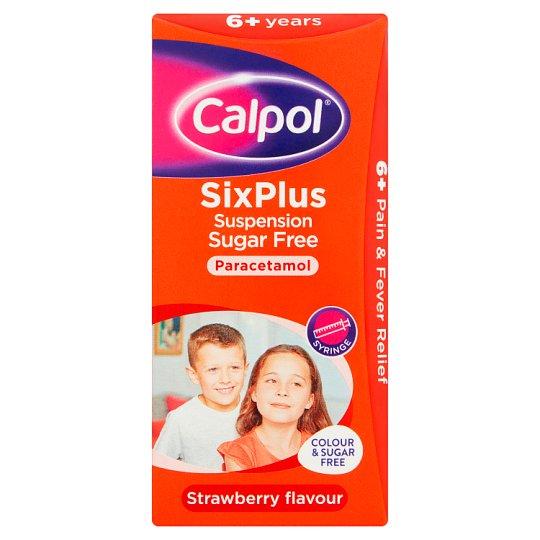 Buy Calpol Six Plus Sugar Free Suspension Liquid Paracetamol 200ml UK Next Day Delivery Infant Liquid