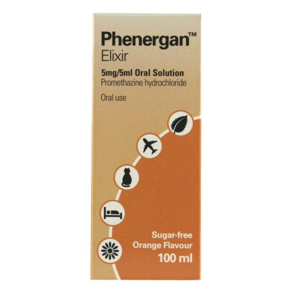 Phenergan Elixir Online UK 100ml 5mg 5ml Oral Solution