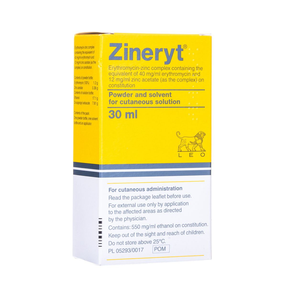 Buy Zineryt Solution 30ml Online   Acne Treatments   My