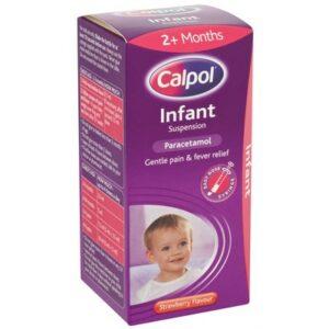Buy Calpol Infant Sugar Free Suspension Strawberry Flavour Liquid Paracetamol Online UK Next Day Delivery