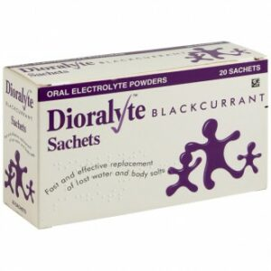 Buy Dioralyte Blackcurrent Oral Electrolyte Powders 20 Sachets UK Next Day Delivery solution