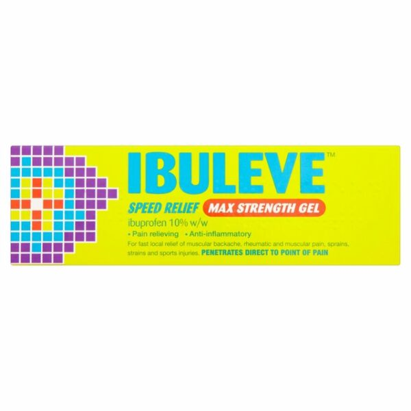 Buy Ibuleve Speed Relief Max Strength Gel UK Next Day Delivery Online 40g