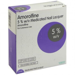 Amorolfine Nail Lacquer 5% Loceryl Medicated Containing