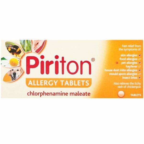 Buy Piriton 4mg Hayfever Allergy Tablets Online