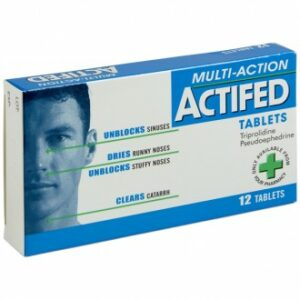 Buy Actifed Multi-Action Tablets 12 Pack Online UK Next Day Delivery Cold