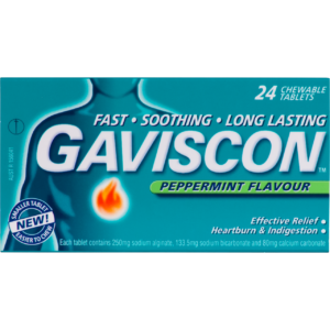 Gaviscon Peppermint Flavour Tablets Image