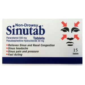 Buy Sinutab Tablets Online UK Next Day Delivery Allergy Decongestant 3 Way