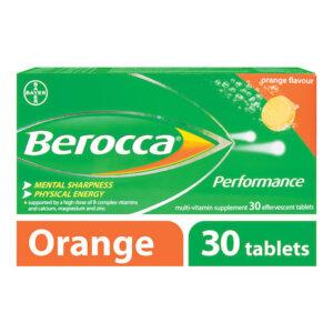 Buy Berocca Vitamin B Effervescent Orange Tablets 15/30 Online UK Next Day Delivery