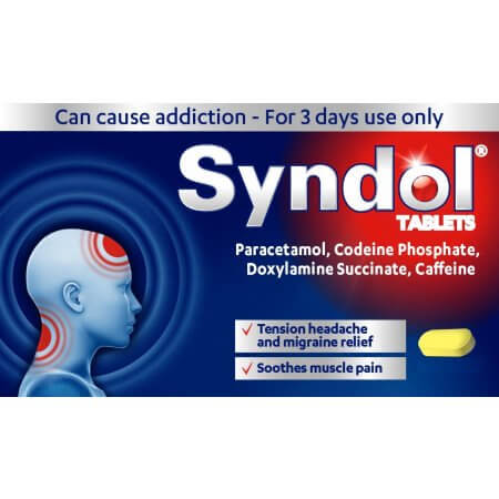 Buy Syndol Tablets UK Online Migraine Headache Relief