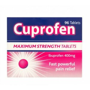 Buy Cuprofen Maximum Strength 400mg UK Next Day Delivery Tablets 96