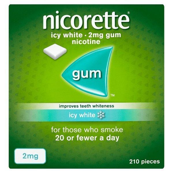 Buy Nicorette Ice Whitening Chewing Gum Online