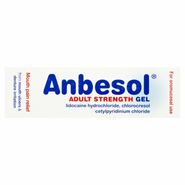 Buy Anbesol Adult Gel Mouth Ulcer Treatment 10g Online UK Next Day Delivery Tooth Gel