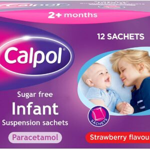 Buy Calpol Infant Suspension Sachets Sugar-Free 12 Online
