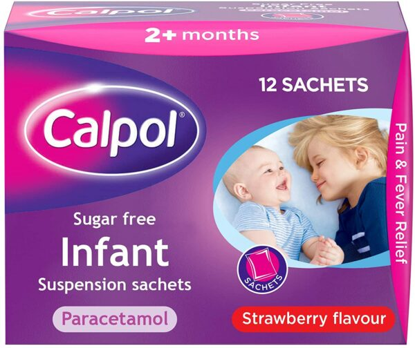 Buy Calpol Infant Suspension Sachets Sugar-Free 12 Online
