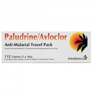 Paludrine & Avloclor Antimalarial Travel Pack 112 Tablets Malaria