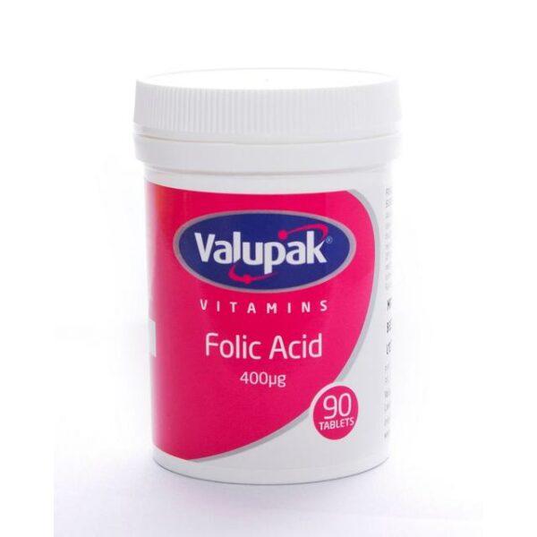 Valupak Vitamins Folic Acid 400mcg