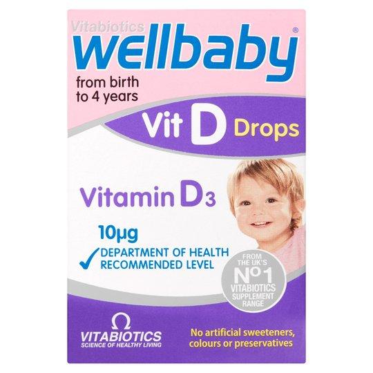 Buy Vitabiotics Wellbaby Drops Online UK Next Day Delivery