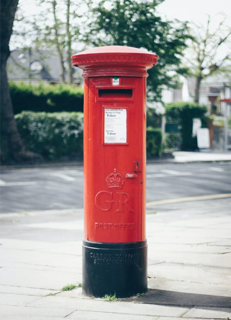 Royal Mail Letter Post Box Easter Holidays 2021