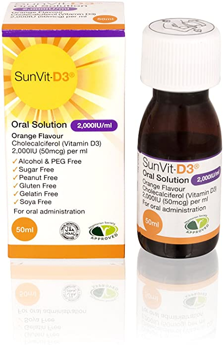 Buy Sunvit-D3 Oral Solution 2,000IU Online UK Next Day Delivery