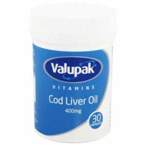 Valupak Cod Liver Oil 400mg 30 Capsules