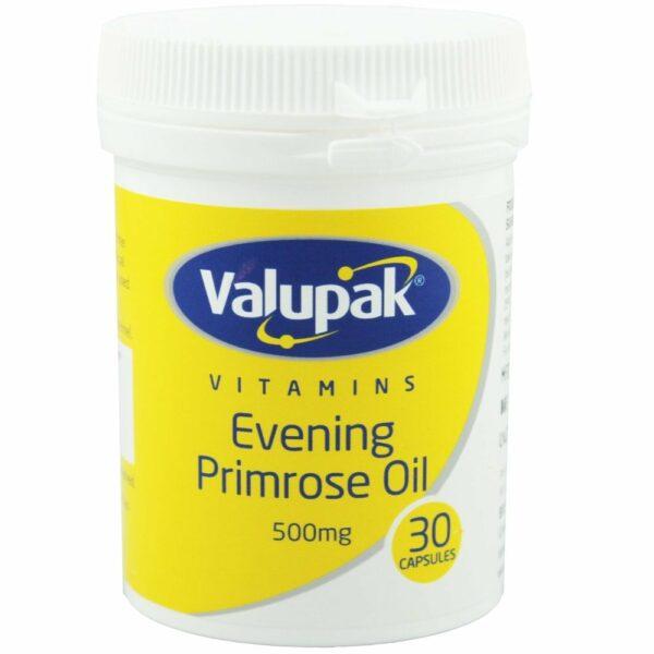 Valupak Vitamins Evening Primrose Oil 500mg