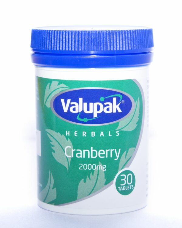 Valupak Herbals - Cranberry 2000mg (30 Tablets)